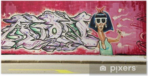 Plakát Obrázek graffiti - Pozadí