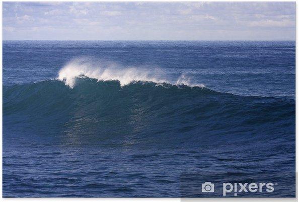 Plakát Ocean Wave právě chystá rozbít s bílým hřebenem - Přírodní krásy