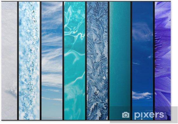 Plakat Odcienie niebieskiego w przyrodzie - Niebo