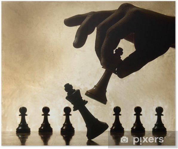 Plakat Odtwarzanie gry w szachy. pokonaniu Królowej. - Sukces i osiągnięcia