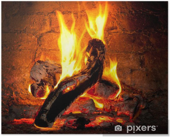 Plakat Ogień płonie w kominku - Tematy