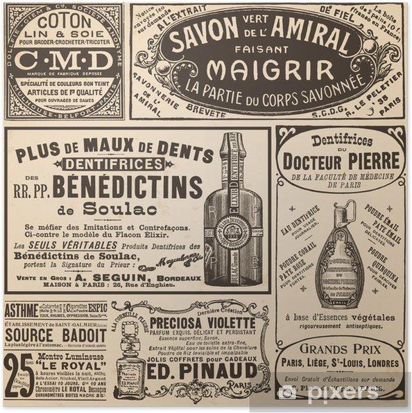 Plakat Ogłoszenia francuskie - Style