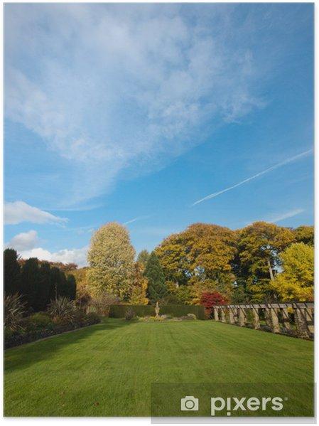 Plakat Ogród angielski - Pejzaż miejski