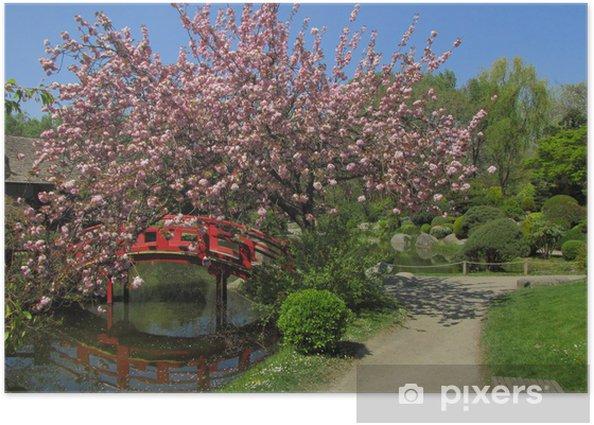 Plakat Ogród japoński - Budynki użyteczności publicznej