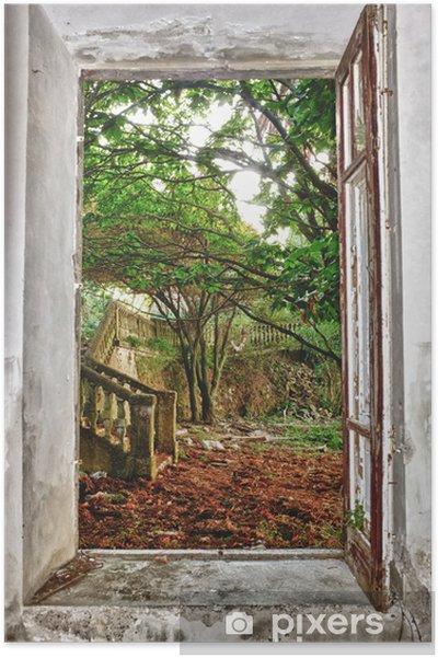 Plakat Ogród przez okno - iStaging