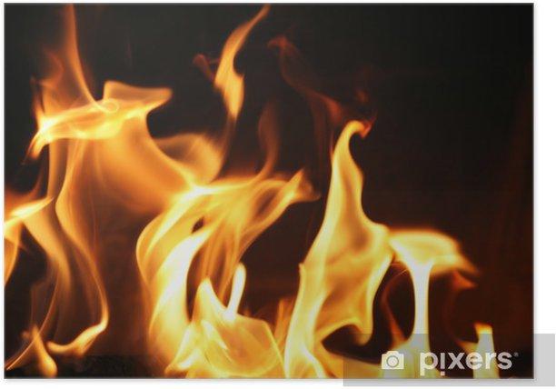 Plakát Oheň plameny na pozadí textury - Přírodní katastrofy