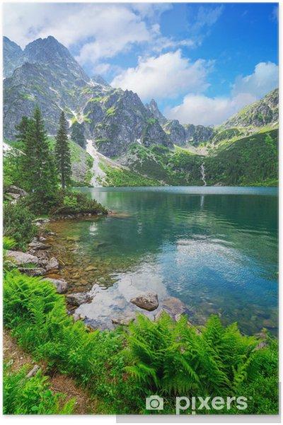 Plakat Oko jeziora morza w Tatrach, Polska - Tematy