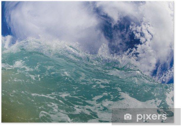 Plakat Olbrzym łamanie fala na Hawajach - Tematy