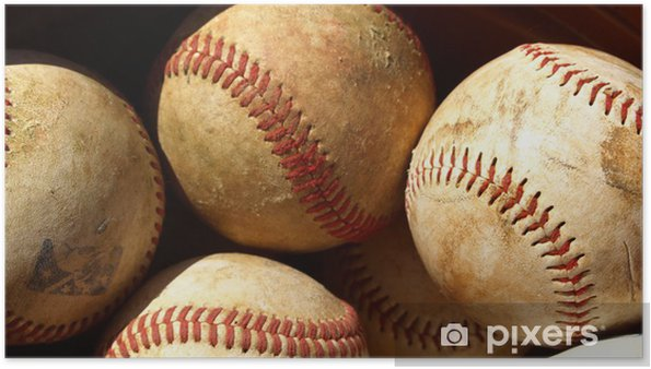Plakat Old baseball - Krajobraz wiejski