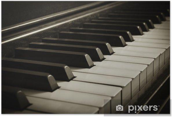 Plakat Old piano - Muzyka