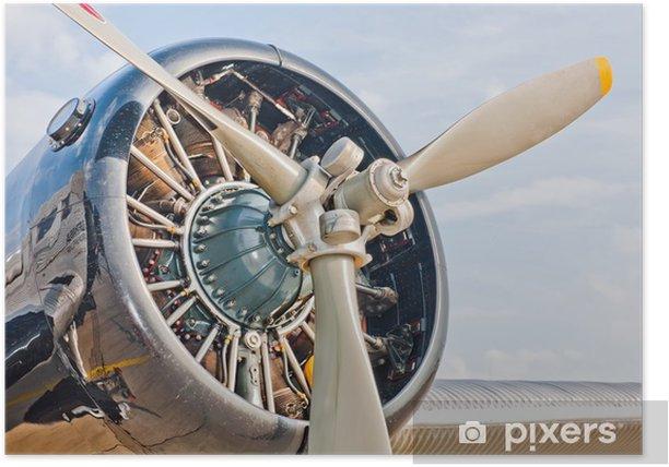 Plakat Oldtimer - Transport powietrzny