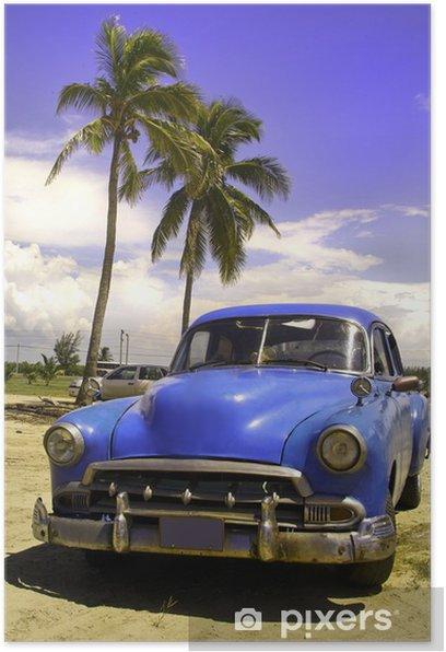 Plakat Oldtimer - Kuba
