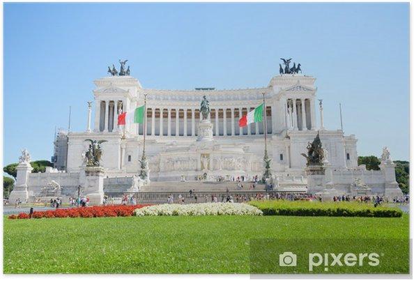 Plakat Ołtarz Ojczyzny, Piazza Venezia, Rzym, Włochy - Miasta europejskie