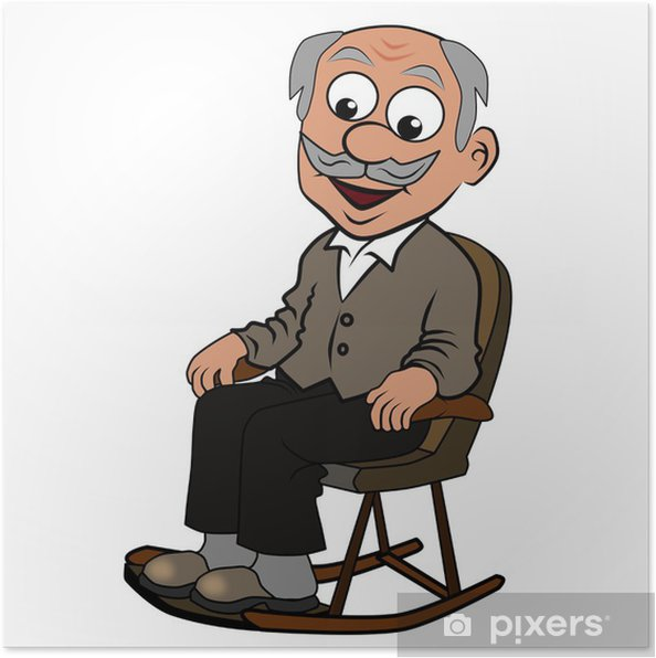 Plakat Opa w fotelu bujanym - Wartości rodzinne