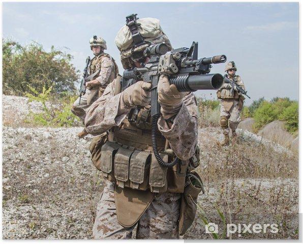 Plakat Operacja wojskowa - Militaria