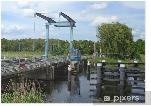 Plakát Ophaalbrug Oude IJssel - Voda