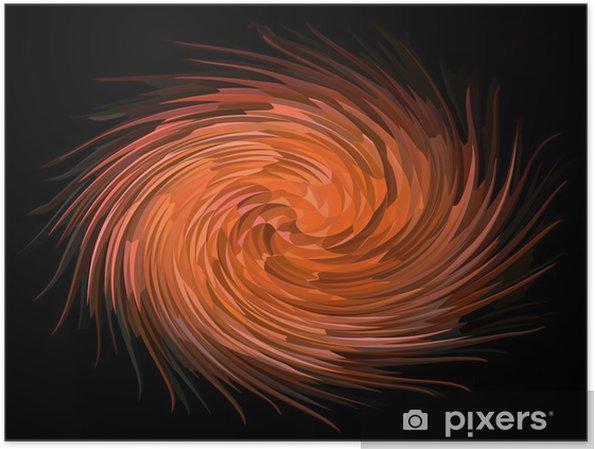 Plakát Oranžová spirála tvorba - Abstraktní