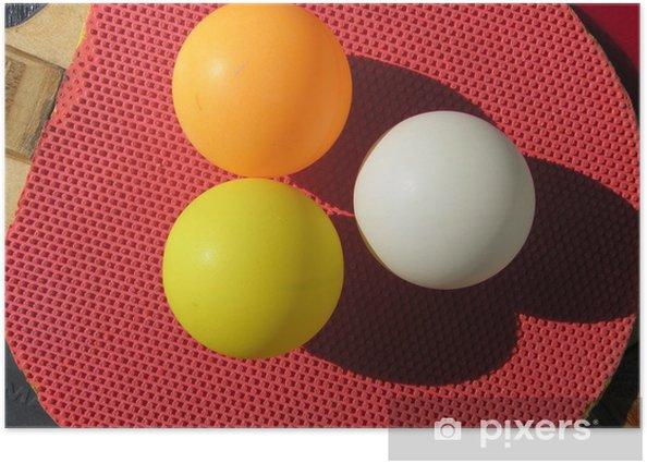 Plakát Oranžové, žluté a bílé koule - Outdoorové sporty