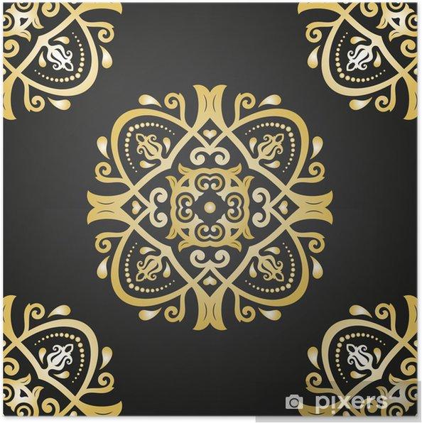 Plakat Orient wektorowych powtarzalny deseń. abstrakcyjne tło - Tła