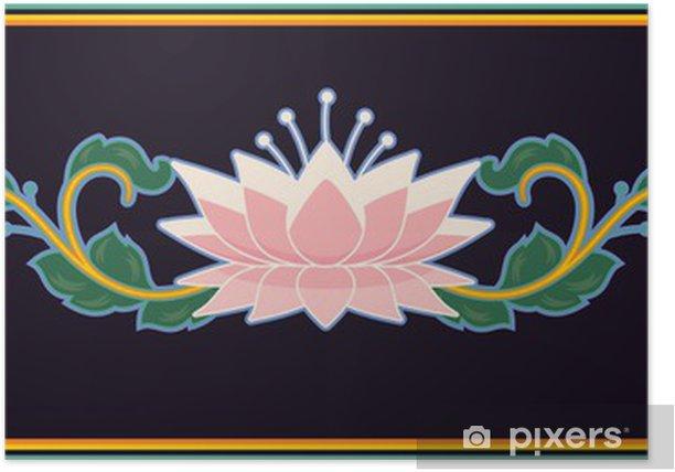 Plakat Oriental Design Element - Kwiaty