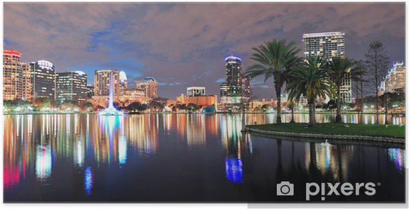 Plakat Orlando noc panorama - Ameryka