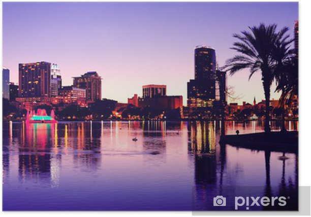 Plakat Orlando sylwetka - Ameryka