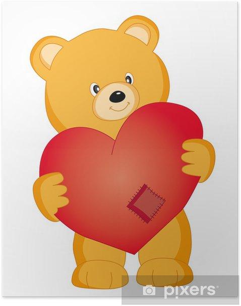 Plakát Oso con un corazón - Savci