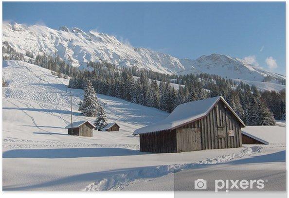 Plakat Ośrodek narciarski w górnej Allgäu jarzma - Wakacje