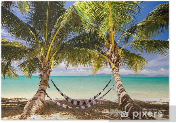 Plakát Out: houpací síti pod palmami - Voda