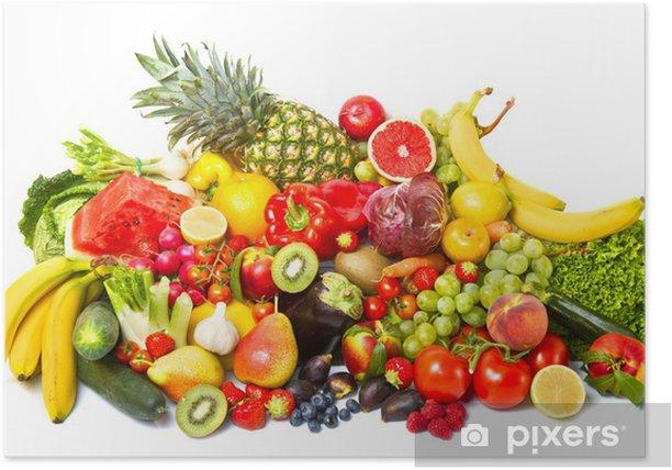 Plakát Ovoce a zelenina - Ovoce