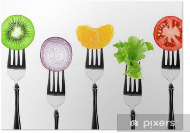 Plakat Owoce i warzywa - Naklejki na ścianę