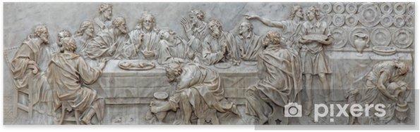 Plakát Padua - Reliéf poslední večeři v bazilice del Carmine - Evropa