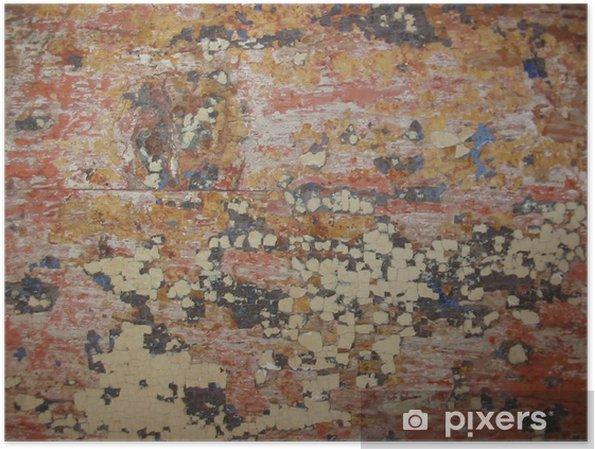 Plakát Paint Peel - Pozadí