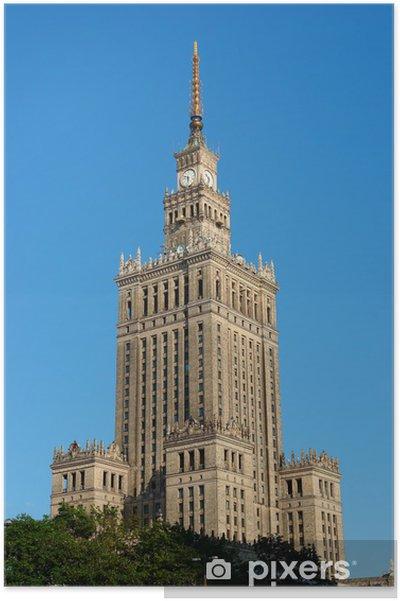 Plakat Pałac Kultury W Warszawie Warszawa