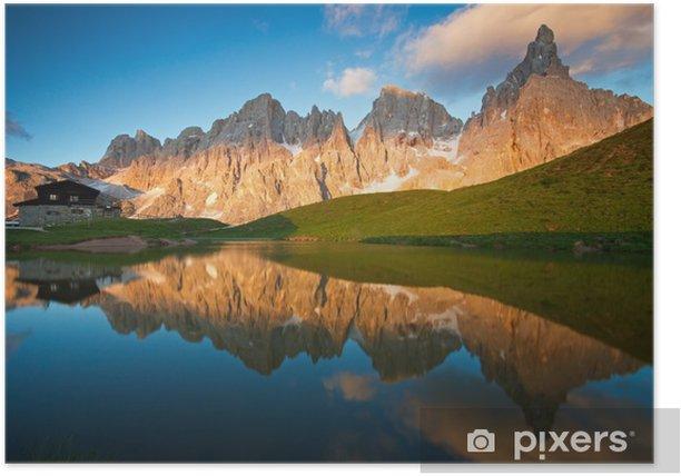 Plakat Pale di San Martino Dolomity - Wakacje