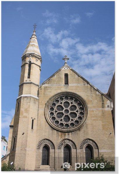 Plakat Palermo - Anglikański Kościół Świętego Krzyża - Budynki użyteczności publicznej