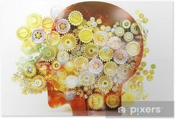 Plakat Pamięci, psychologia, geniusz, pomysły, kreatywność, Mechanizmy - Części ciała