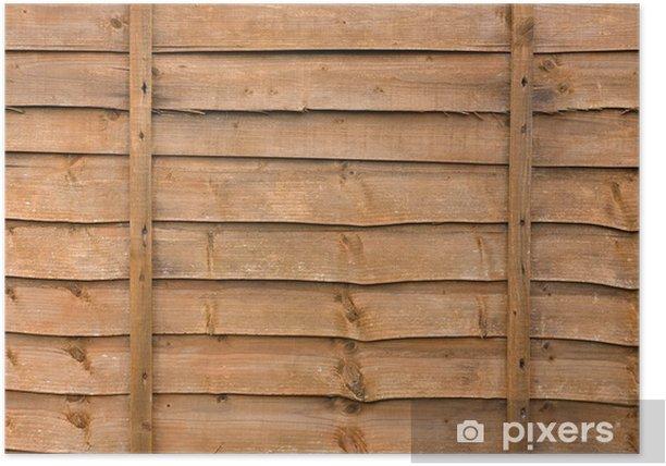 Plakat Panel drewniany płot - Tła