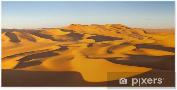 Plakat Panorama Desert - Wydmy - Murzuq Pustynia, Sahara, Libia - Tematy
