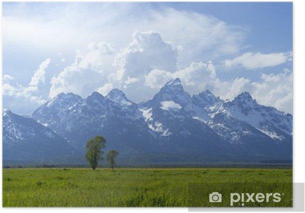 Plakat Panorama Grand Teton pasmo górskie w Wyoming - Góry