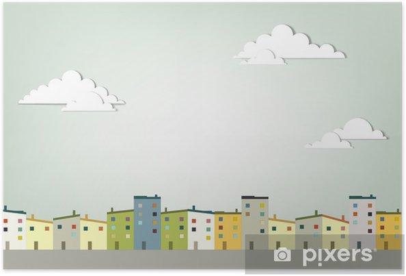 Plakát Panorama města - Město