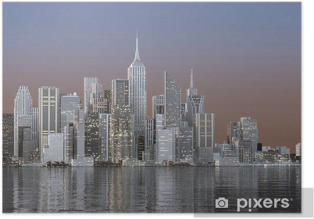 Plakat Panorama miasta - Style