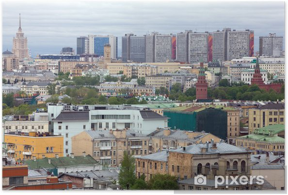 Plakat Panorama Moskwy. - Miasta azjatyckie