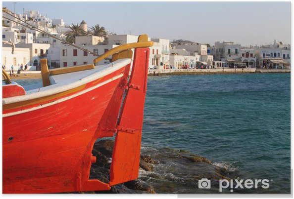 Plakat Panorama of Mykonos, Grecja - Europa