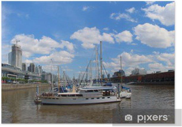 Plakat Panorama Puerto Madero w Buenos Aires - Sklepy