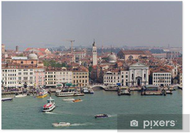 Plakát Panoráma v Benátkách - Evropská města