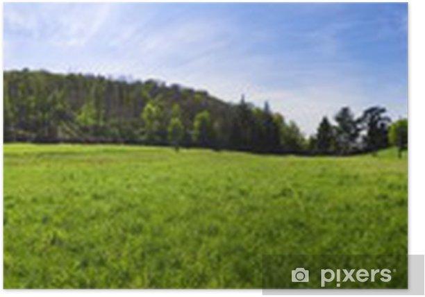 Plakat Panorama - Krajobraz wiejski