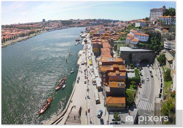 Plakát Panoramatický pohled na město Porto, Portugalsko - Město