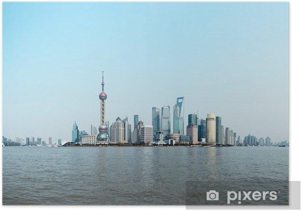 Plakát Panoramatický pohled na Šanghaj panorama - Těžký průmysl