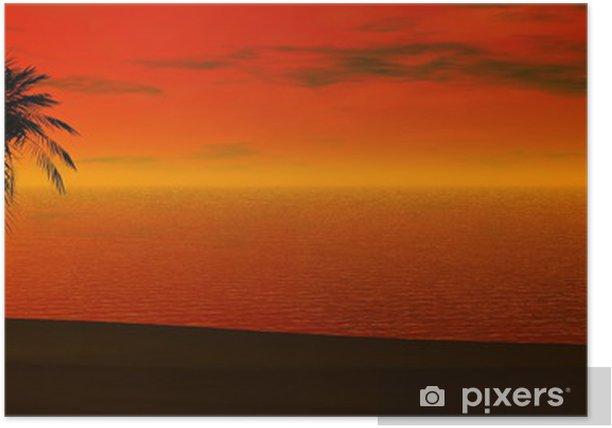 Plakát Panoramatický západ slunce - Prázdniny